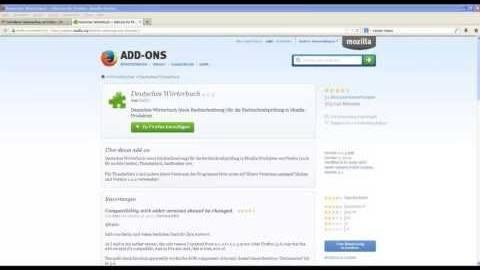 Firefox Rechtschreibueberpruefung