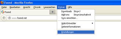 Firefox master-passwort setzen
