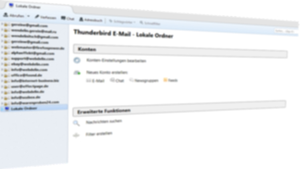 Kostenlose E-Mail Programm Thunderbird Version